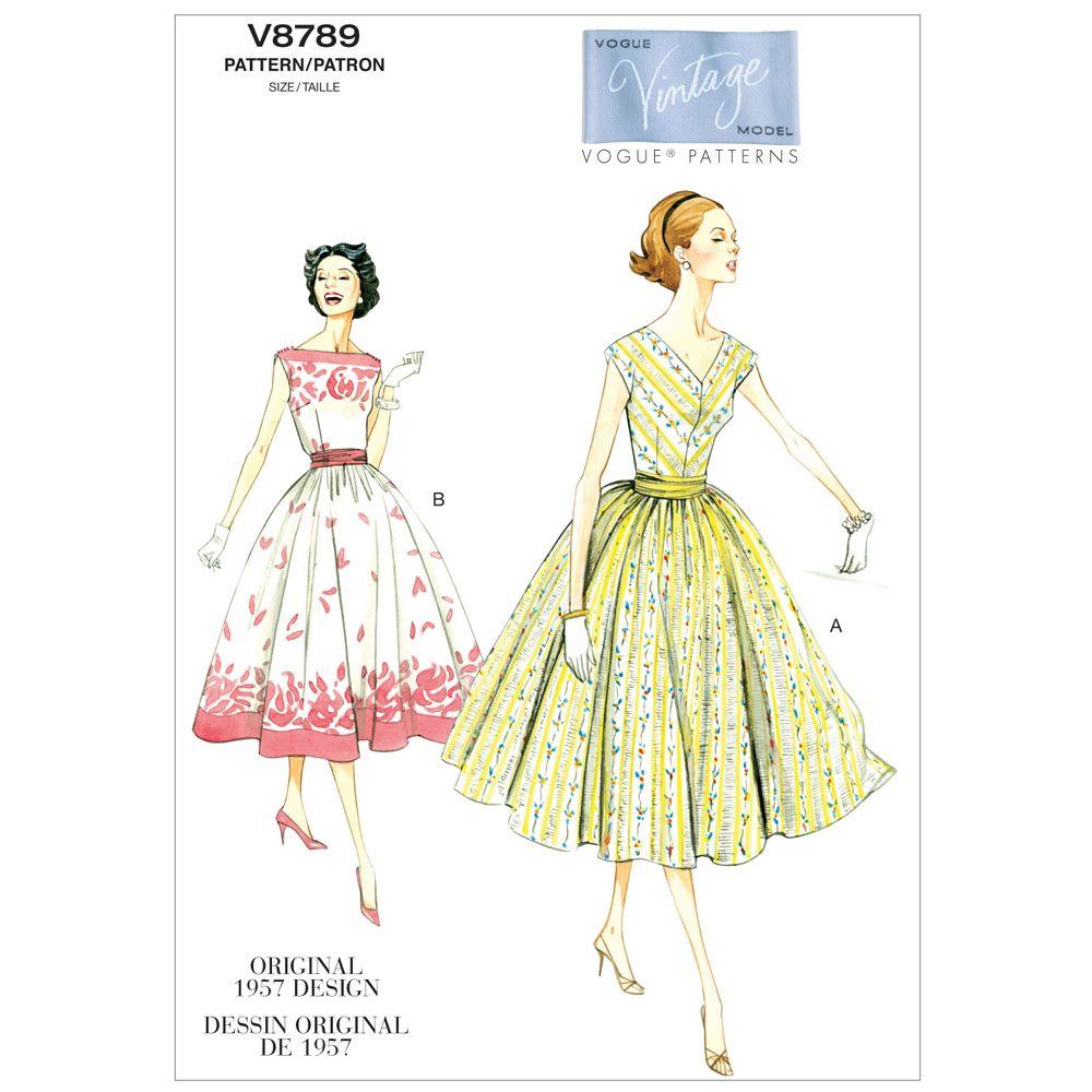 Vintage Vogue Dress Pattern - V8789