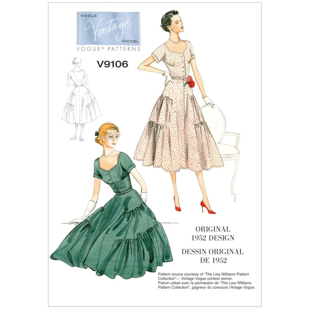 Vintage Vogue Dress Pattern - V9106