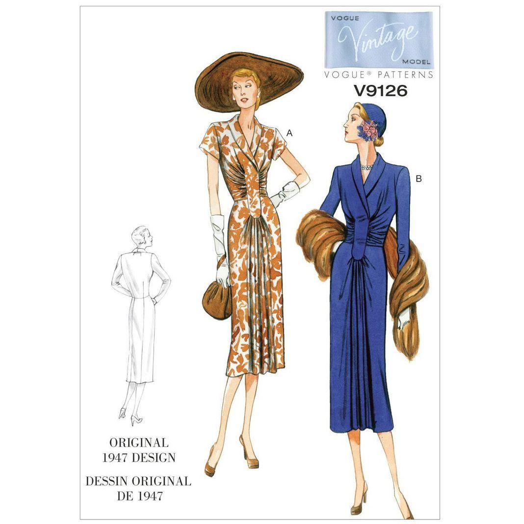 Vintage Vogue Dress Pattern - V9126