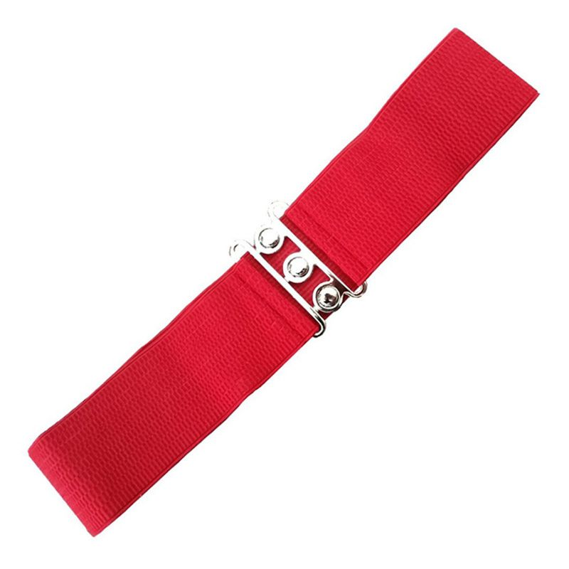 Elastic Cinch Belt - Red