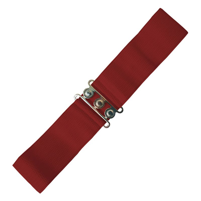 Elastic Cinch Belt - Burgundy