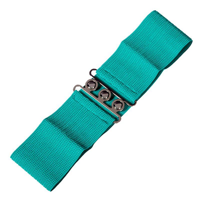 Elastic Cinch Belt - Emerald