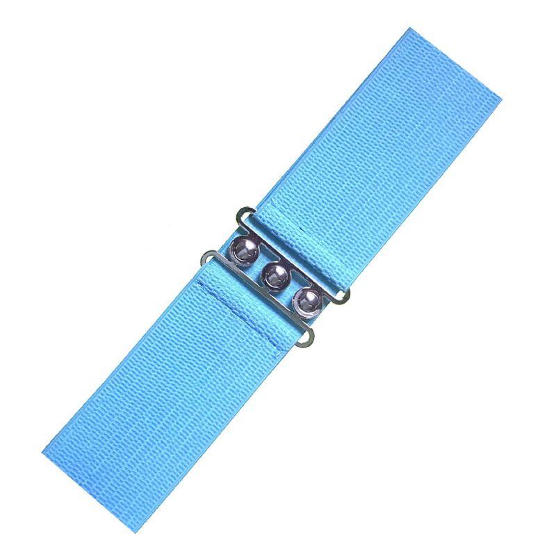 Elastic Cinch Belt - Light Blue