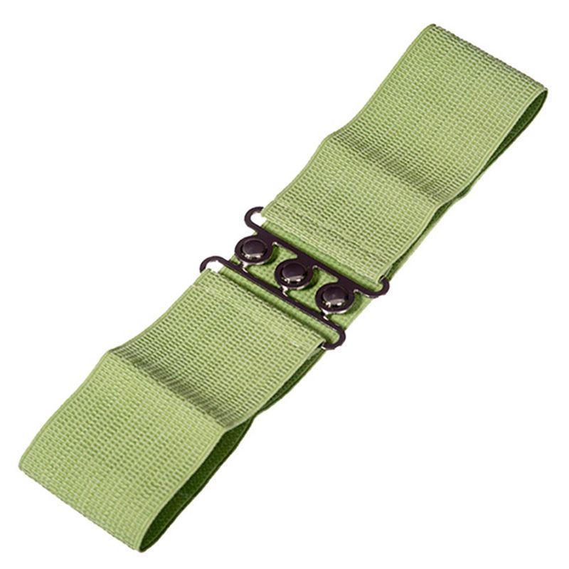 Elastic Cinch Belt - Olive