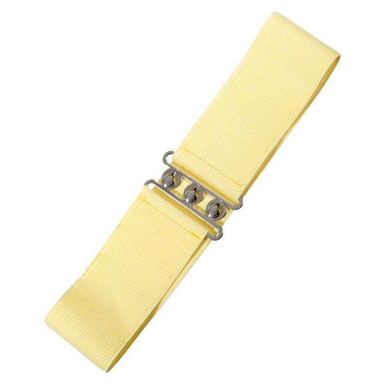 Elastic Cinch Belt - Pale Yellow