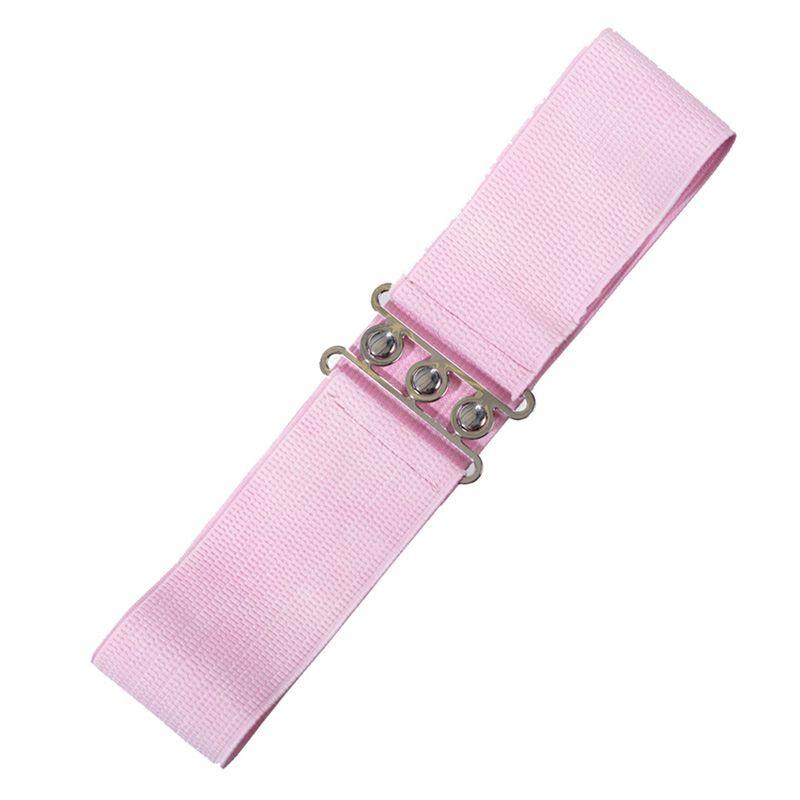Elastic Cinch Belt - Light Pink