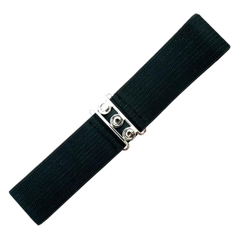 Elastic Cinch Belt - Black