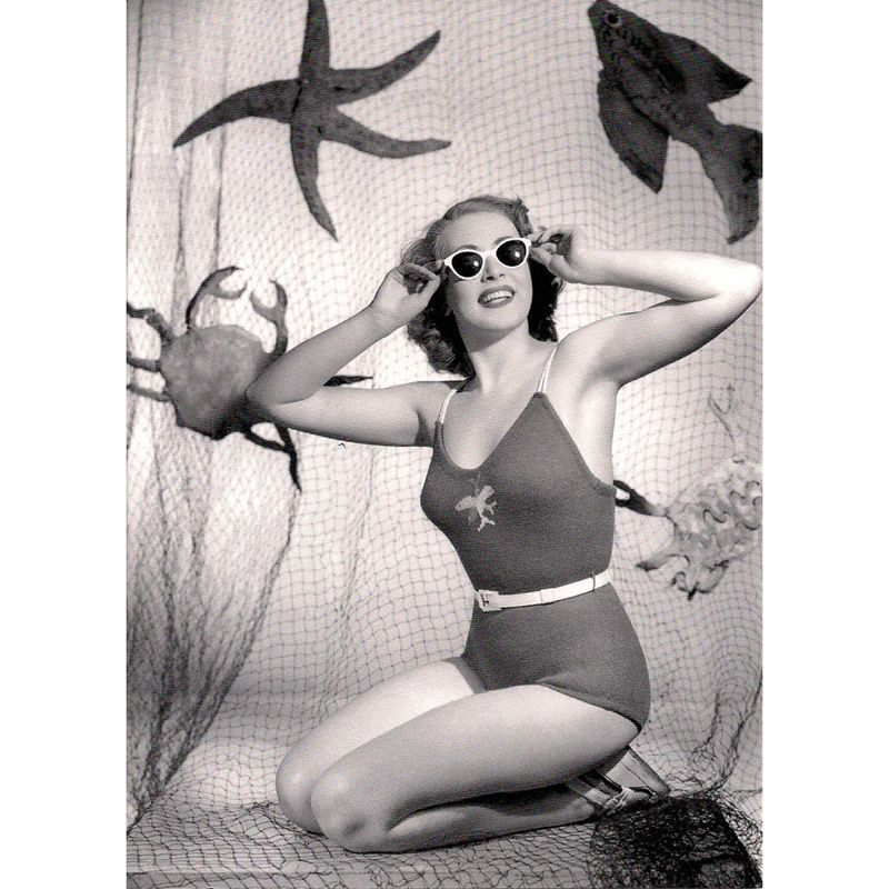 'Swimsuit Shoot 1949' Greeting Card