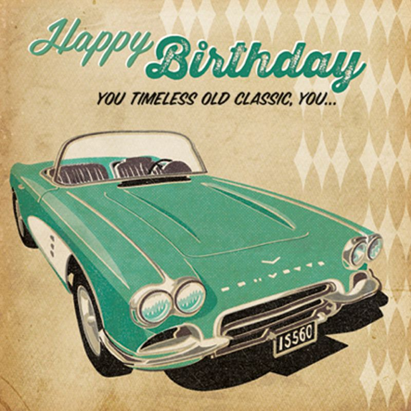 'Timeless Old Classic' Birthday Card