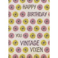 'Vintage Vixen' Birthday Card
