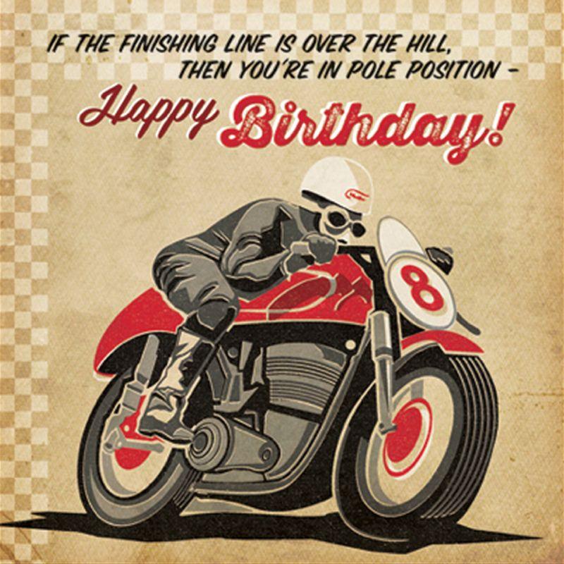 'Pole Position' Birthday Card