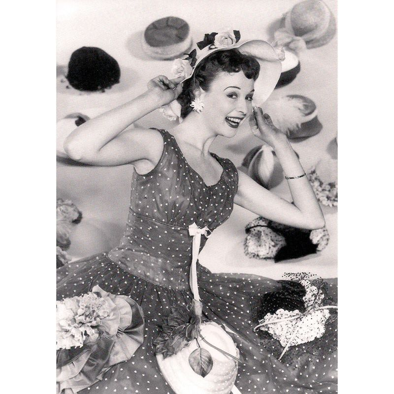 'Summer Hats 1955' Greeting Card
