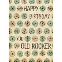 'Old Rocker' Birthday Card
