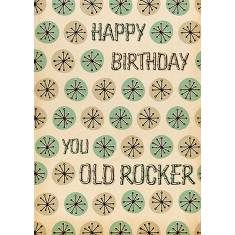 'Old Rocker' Birthday Card
