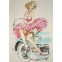 'Classic American Car' Greeting Card