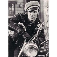 'Marlon Brando' Motorcycle Greeting Card