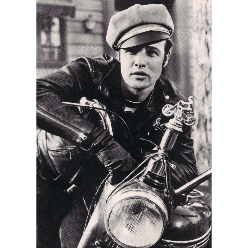 'Marlon Brando' Motorcycle Greeting Card