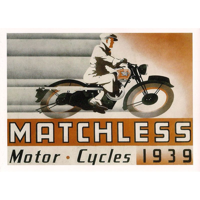 'Matchless 1939' Greeting Card