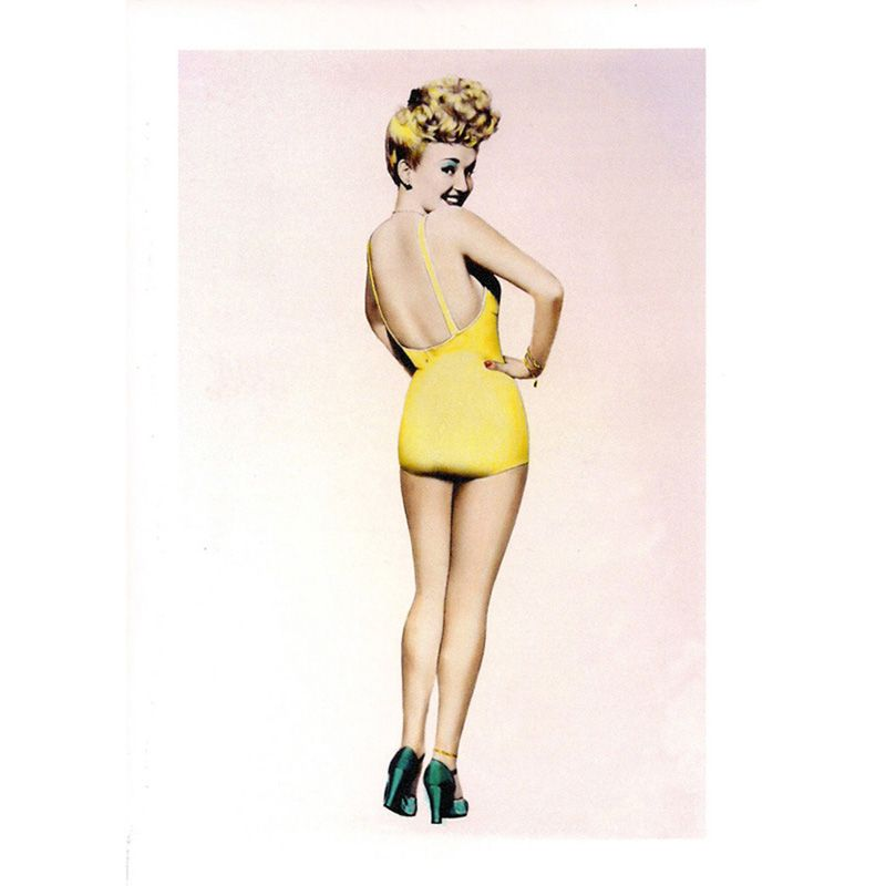 'Betty Grable' Greeting Card