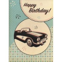'Corvette' Birthday Card