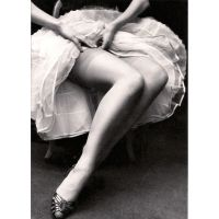 'Fastening Her Stockings' Greeting Card