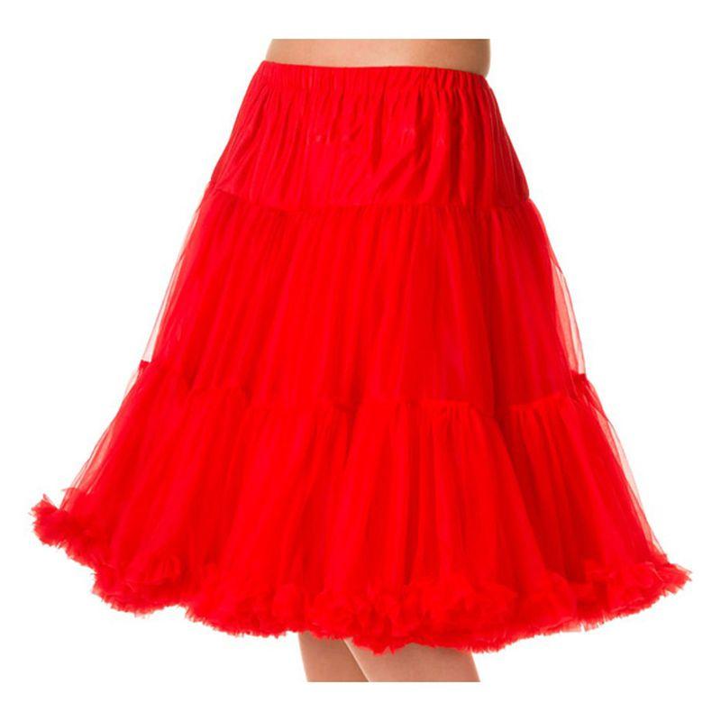 """23"""" Banned Starlite Petticoat - Red"""