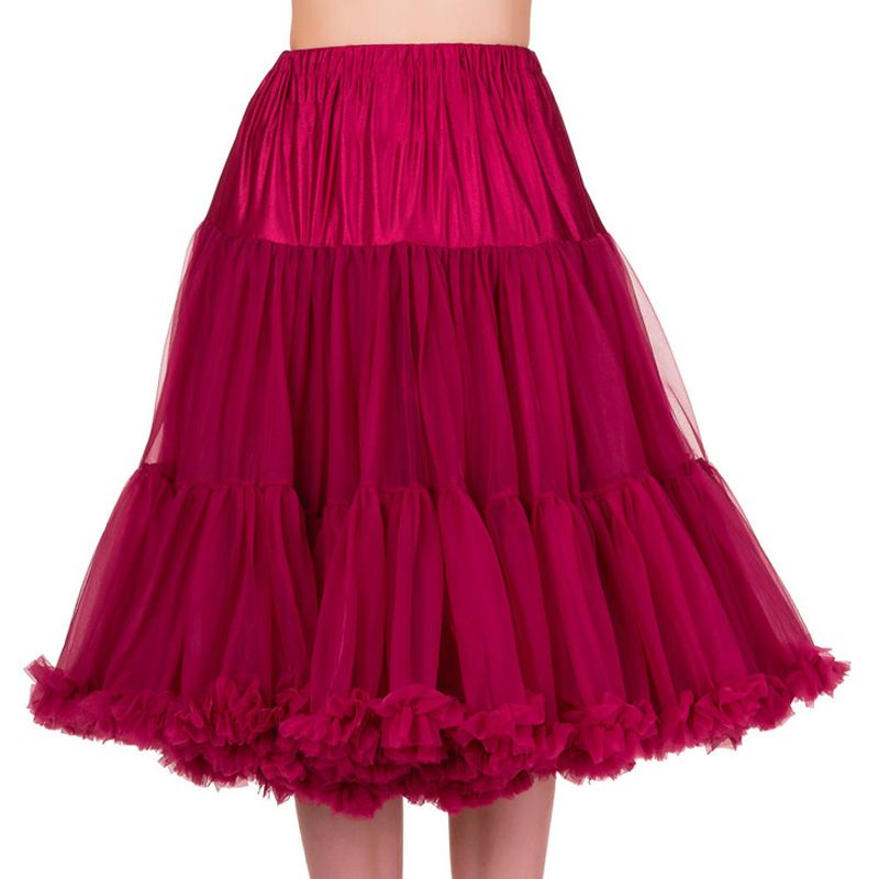 "26"" Banned Lifeforms Petticoat - Burgundy"