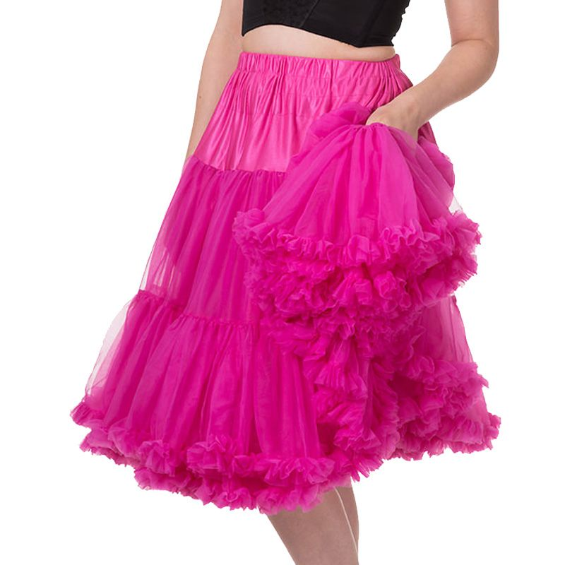 """26"""" Banned Lifeforms Petticoat - Hot Pink"""