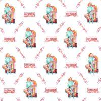 Hot Rockin Pin Up with Jukebox Gift Wrap