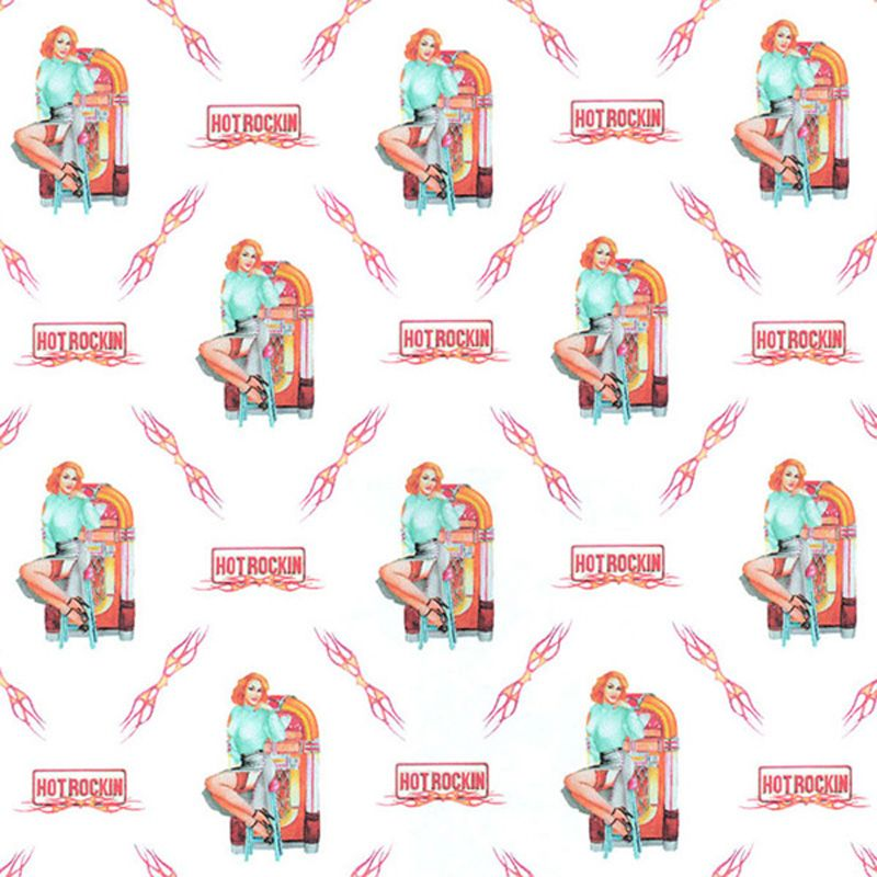 Hot Rockin Pin Up with Jukebox Gift Wrap