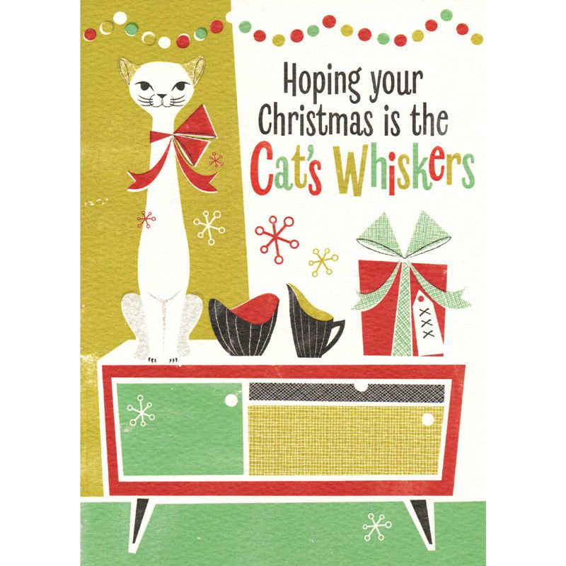 'Cat's Whiskers' Christmas Card