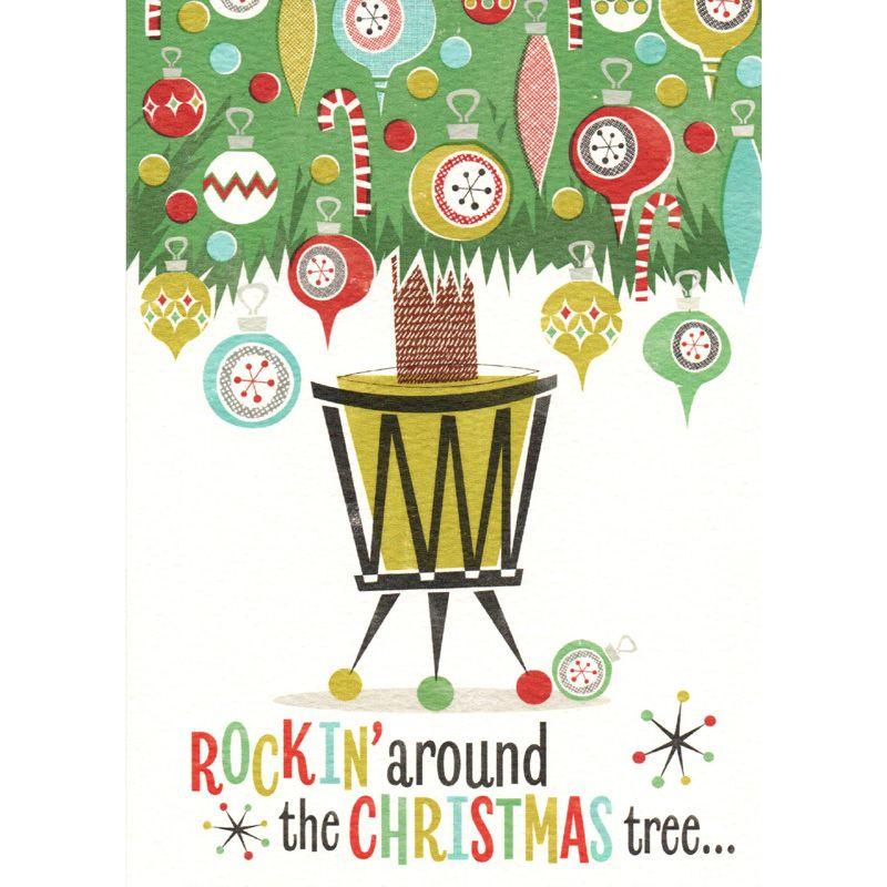 'Rockin Around The Christmas Tree' Christmas Card