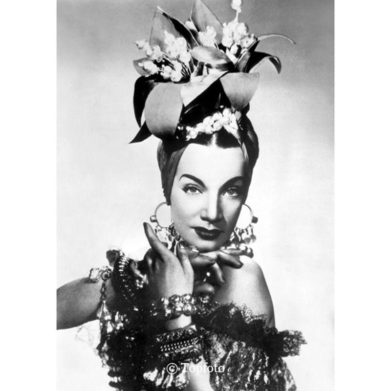 'Carmen Miranda Poised' Greeting Card