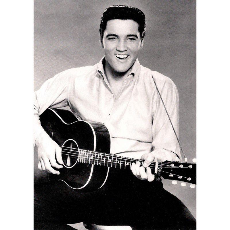 'Elvis Presley Playing Guitar' Greeting Card