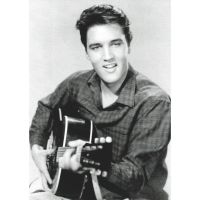 'Elvis Presley Strumming' Greeting Card