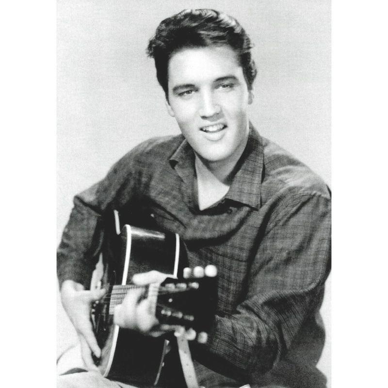 'Elvis Presley Strumming' Greeting Card