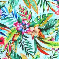 Oasis TROPIC LARGE FLORAL Fabric - Sky