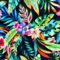 Oasis TROPIC LARGE FLORAL Fabric - Navy