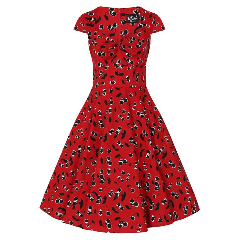 Hell Bunny Alison 50s Dress - Red