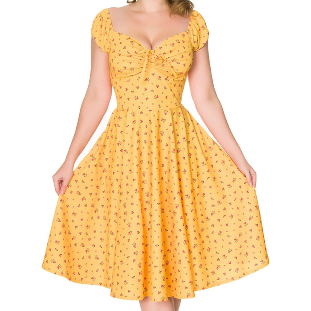 Sheen Serenity Dress - Mustard