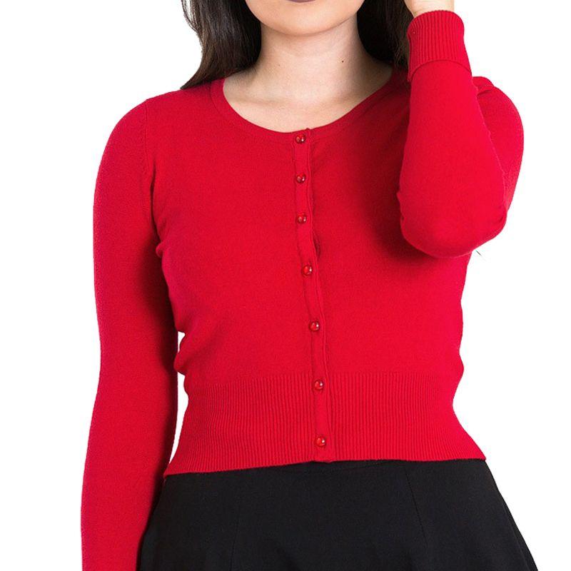 Hell Bunny Paloma Cardigan - Red