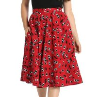 Hell Bunny Alison Skirt - Cherry Red