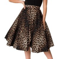 Hell Bunny Panthera Skirt - Leopard