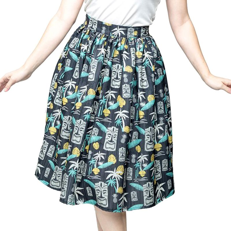 Steady Clothing Tiki In Paradise Skirt