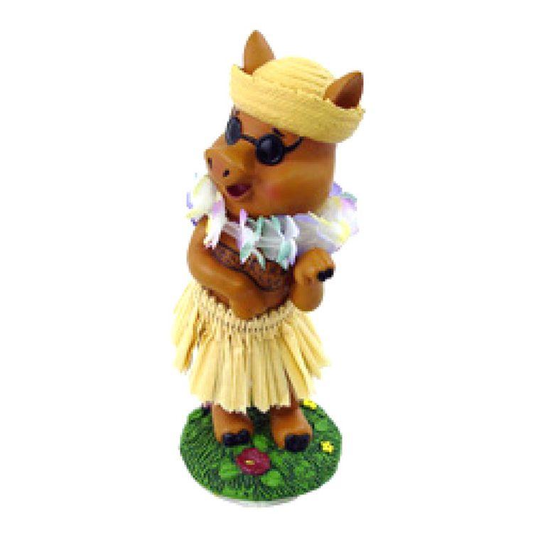 """4"""" Miniature Hawaiian Dashboard Hula Pig"""