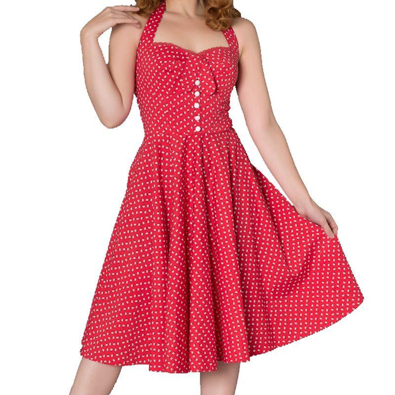 Sheen Xandria Swing Dress - Red