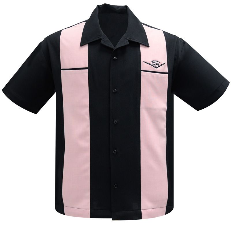 Steady Clothing Classic Cruising Button Up Shirt - Black / Pink