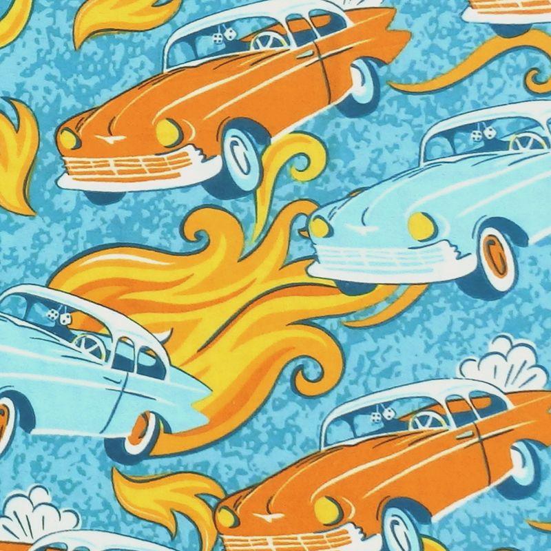 Jo-Ann Fabrics AMERICAN CAR Flannel Fabric - Turquoise