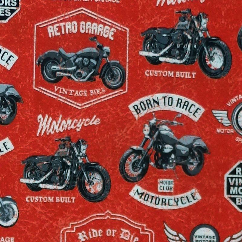 Windham Fabrics BORN TO RIDE Fabric - Red