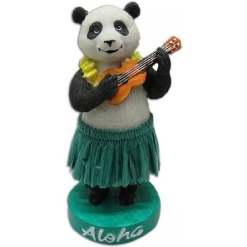 "4"" Miniature Hawaiian Dashboard Hula Panda"